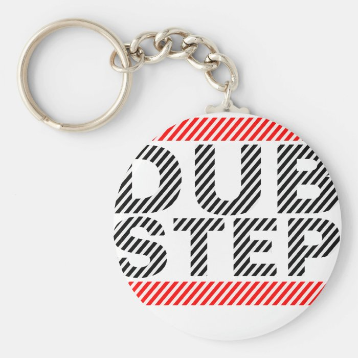 Dubstep Music Basic Round Button Key Ring