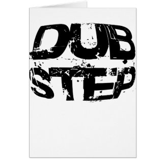 Dubstep Music Text Greeting Card