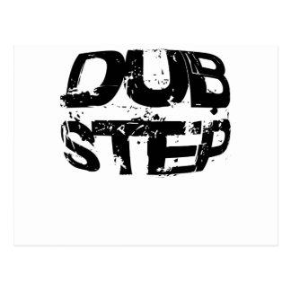 Dubstep Music Text Postcard