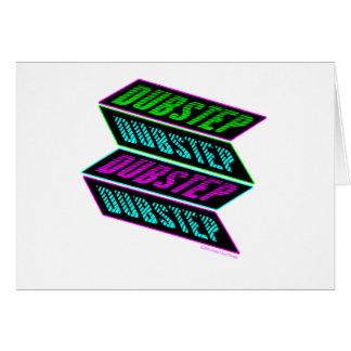 DUBSTEP Neon Greeting Card