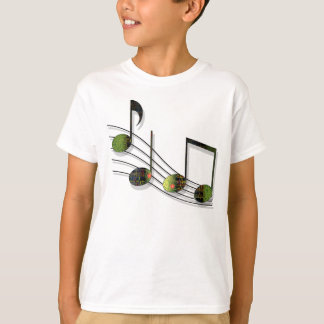 Dubstep Notes Kids and Baby Light Shirt