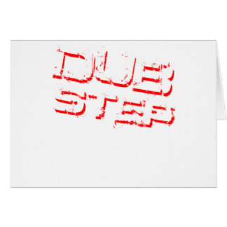 Dubstep Red Greeting Card