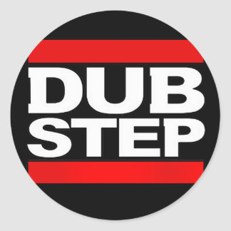 dubstep remix-benga-dubstep radio-free dubstep-dub classic round sticker