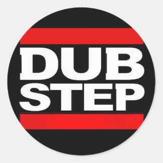 dubstep remix-benga-dubstep radio-free dubstep-dub round sticker