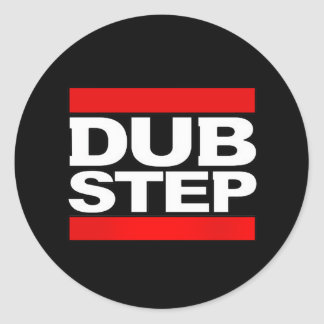 dubstep remix-dubstep radio-free dubstep-kode9 classic round sticker