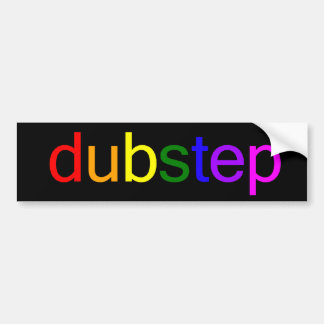 Dubstep Spectrum Black Bumper Sticker