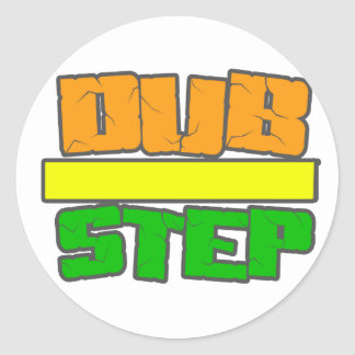 DUBSTEP Stylee Classic Round Sticker