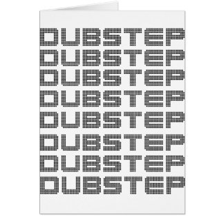 Dubstep Text Greeting Card