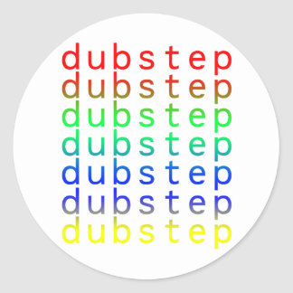 Dubstep Text Color Spectrum Classic Round Sticker