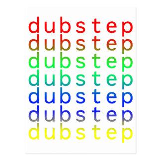 Dubstep Text Color Spectrum Postcards