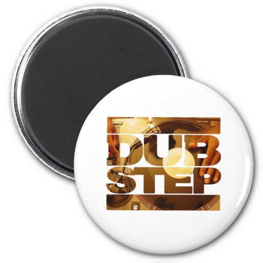DUBSTEP vinyl dubplates music dub step download 6 Cm Round Magnet