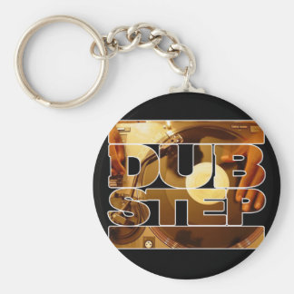 DUBSTEP vinyl dubplates music dub step download Basic Round Button Key Ring
