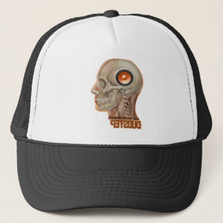 Dubstep woofer brain trucker hat