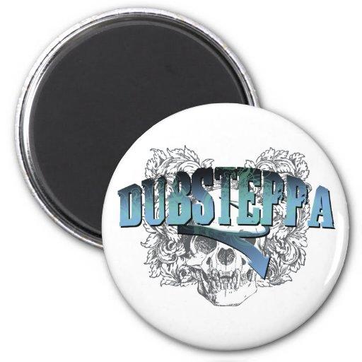 Dubsteppa Skull 6 Cm Round Magnet