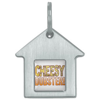 Dubster Blue Cheesy Pet Name Tag