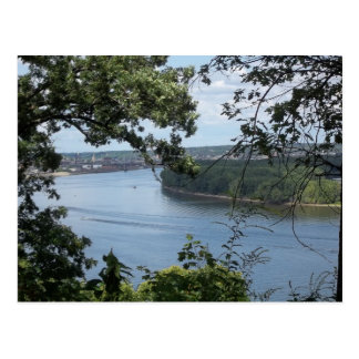 Dubuque Iowa on the Mississippi River Postcard