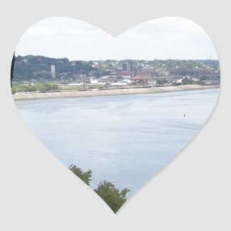 Dubuque Iowa on the Mississippi River Stickers