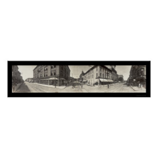 Dubuque Iowa Street Photo 1907 Poster