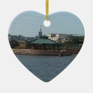Dubuque River Walk Ceramic Heart Decoration