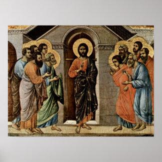 Duccio di Buoninsegna - Christ appears to Apostles Print