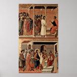 Duccio di Buoninsegna - Christ before Pilate Poster