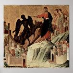 Duccio di Buoninsegna - Temptation of Christ Poster
