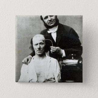 Duchenne de Boulogne with a 'victim patient' 15 Cm Square Badge