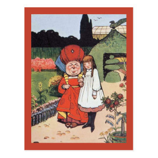 Duchess in Garden With Alice Postcards