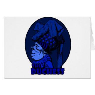 Duchess Logo Blue Greeting Cards
