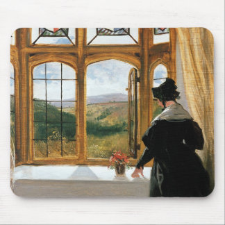 Duchess of Abercorn looking out of a window Mouse Mat