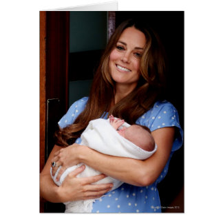 Duchess Of Cambridge Holding Newborn Son 2 Card