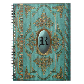 Duchess Victorian Cool Monogram Spiral Notebook