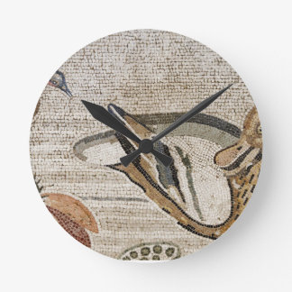 Duck and bird, Nile mosaic, House of the Faun Round Clock