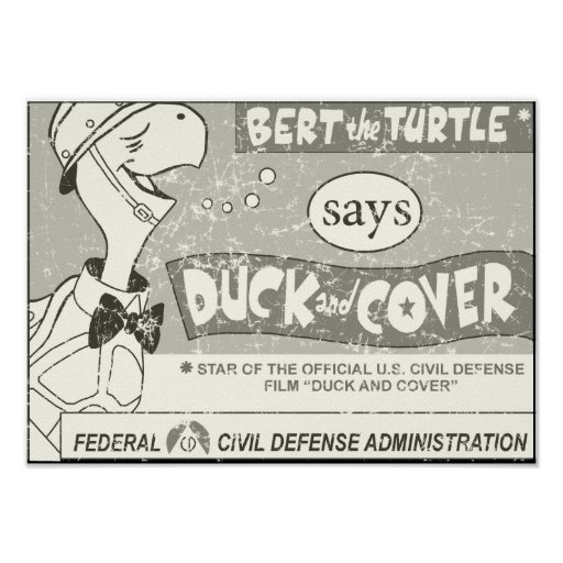 Duck and Cover - distressed Print