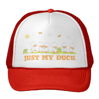 """Duck and Turtle - """"just my duck"""" Cap"""