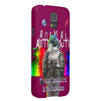 Duck Astronaut in Rainbow Space Galaxy S5 Cases