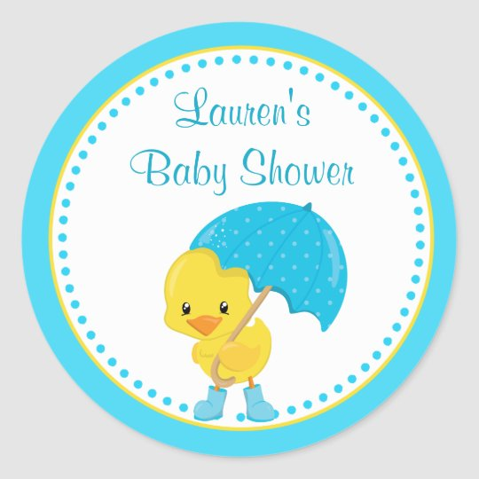 Duck Baby Shower Favour Tag Stickers