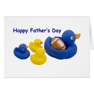 Duck ball on Father's Day Greeting Card