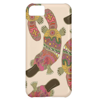 duck-billed platypus linen iPhone 5C case