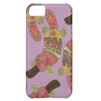 duck-billed platypus violet iPhone 5C case