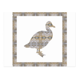 DUCK Bird CRYSTAL Jewel NVN455 KIDS LARGE fun gift Postcard