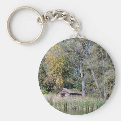 Duck blind in the Fall Key Chain