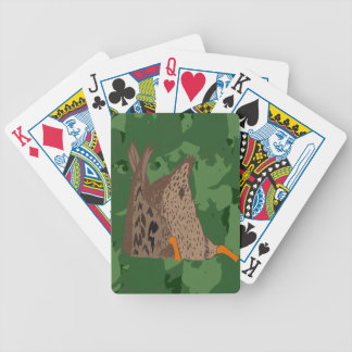 Duck Butt Camo Bicycle Playing Cards