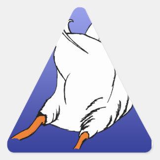 Duck Butt Postage Stamp Triangle Sticker