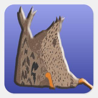 Duck Butt Square Sticker