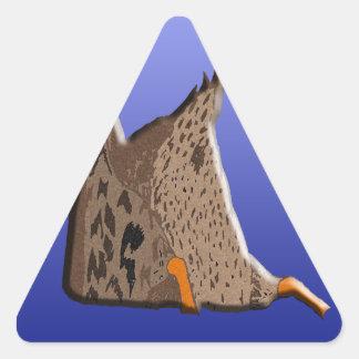 Duck Butt Triangle Sticker