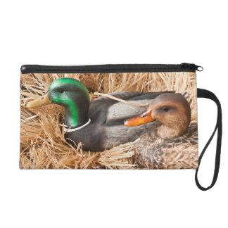 Duck Call Mallard Drake Hun Make Up Bag Tote Purse Wristlets
