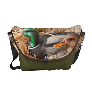 Duck Call Mallard Drake Hunting Hun Bag Tote Purse Messenger Bag