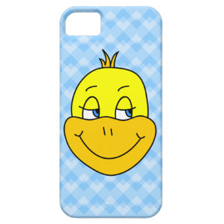 Duck Cartoon on Blue Pattern. Case For The iPhone 5