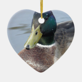 Duck Ceramic Heart Decoration